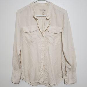 J. Crew 100% Silk Button Down Blouse Size XS
